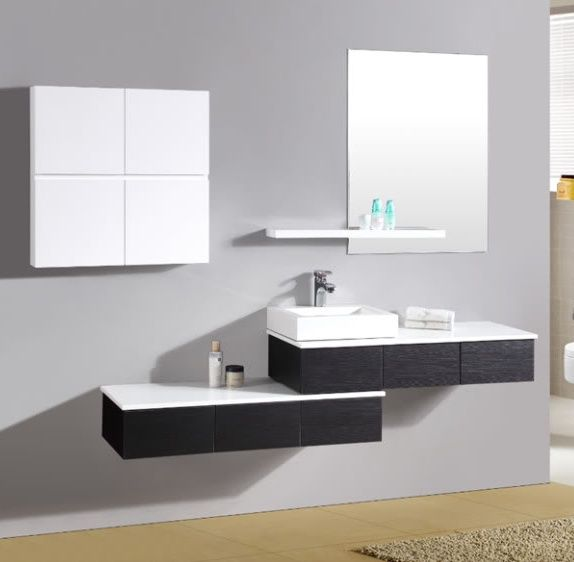 Mobile da bagno moderno nettuno con pensile pd - Arredo bagno milano est ...