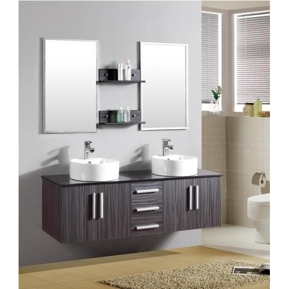 Arredo bagno moderno smeraldo2 con doppio lavabo pd for Bricoman arredo bagno