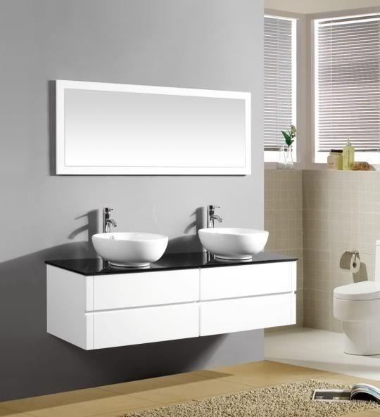 Arredo bagno topazio2 mobile moderno con doppio lavabo pd for Offerta mobili bagno