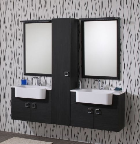 Arredo bagno moderno sospeso florida vari colori bh for Arredo bagno lavabo sospeso