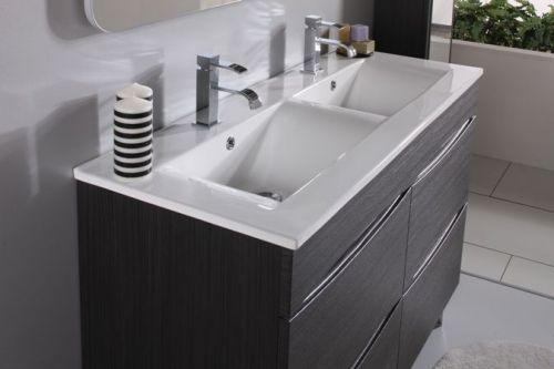 mobile arezzo 120cm in 3 colori con doppio lavabo bh - Lavabi Con Mobile
