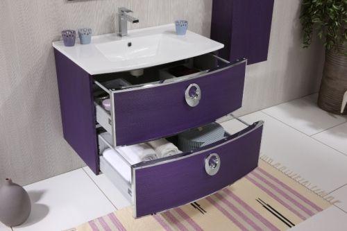Mobile da bagno moderno dallas 100cm completo bh for Mobili salvaspazio bagno