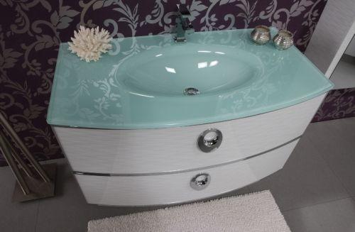 Mobile da bagno moderno dallas 100cm completo bh - Lavandino bagno vetro ...