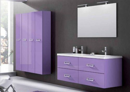 Arredo bagno moderno line con doppio lavabo in 25 colori bb - Mobiletto bagno mondo convenienza ...