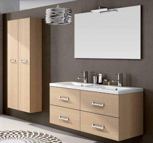 arredo bagno moderno line con doppio lavabo, in 25 colori bb - Mobili Arredo Bagno Moderni On Line