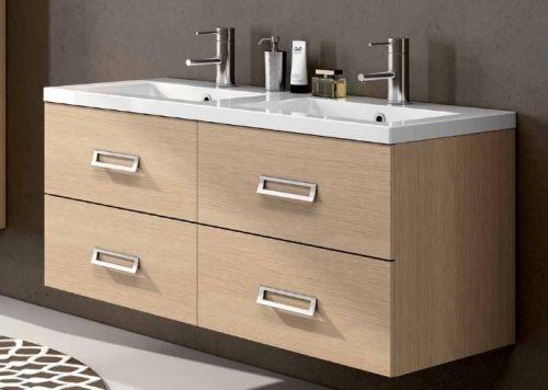 arredo bagno moderno line con doppio lavabo, in 25 colori bb - Arredo Bagno Moderno Doppio Lavabo