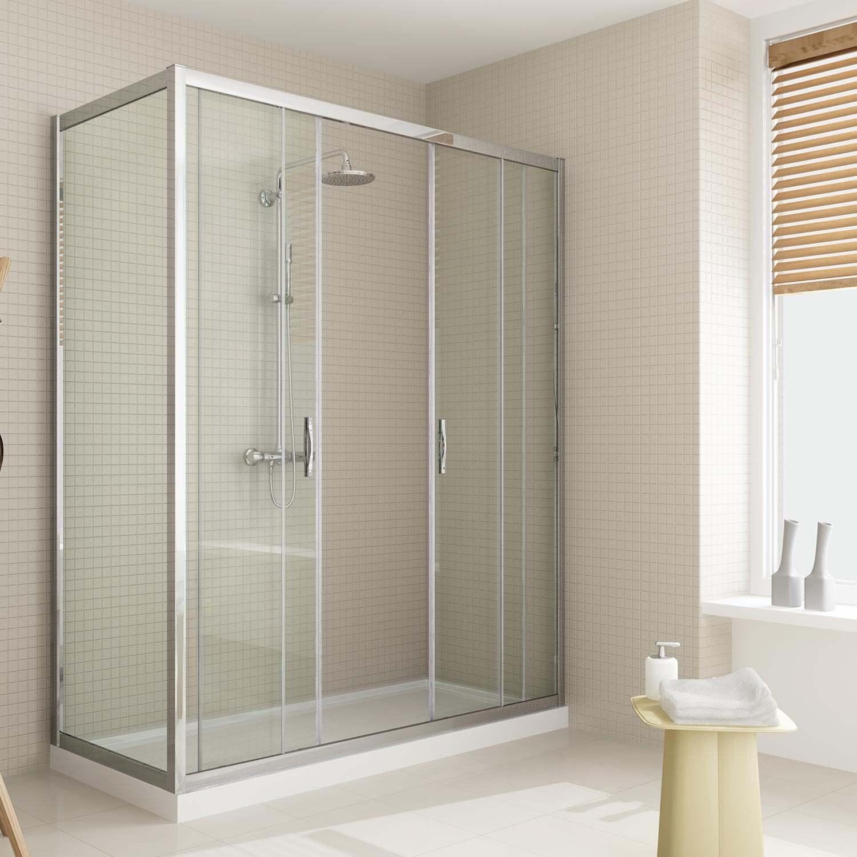 Box doccia anta fissa doppia porta scorrevole altezza 185 - Altezza box doccia ...