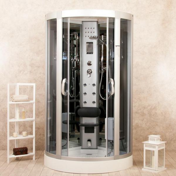 Cabina box idromassaggio con cromoterapia radio in 3 misure anche