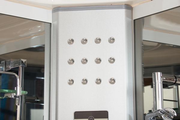 Cabina box idromassaggio con cromoterapia radio in 3 misure anche con sauna - Box doccia cromoterapia ...