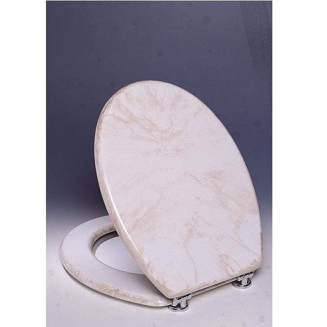 Copriwater universale in poliestere marmorizzato beige bh - Bagno italia it ...