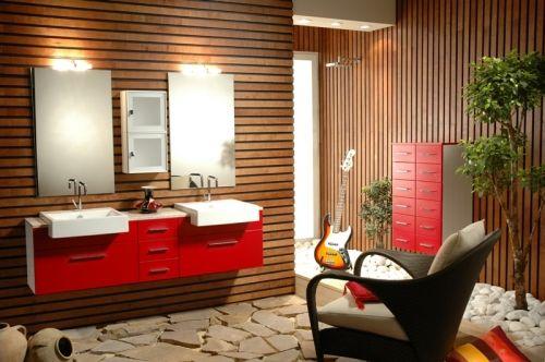 Mobile bagno cubo sospeso moderno disp in colori bh