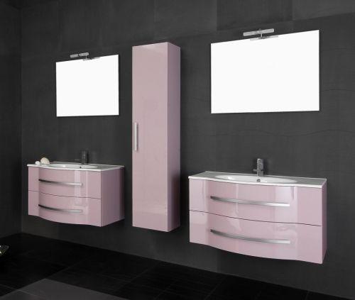 Arredo bagno moderno argus mobile doppio lavabo bb for Specchio bagno doppio lavabo