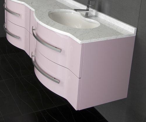 Arredo bagno moderno argus mobile doppio lavabo bb - Lavabi con mobiletto ...