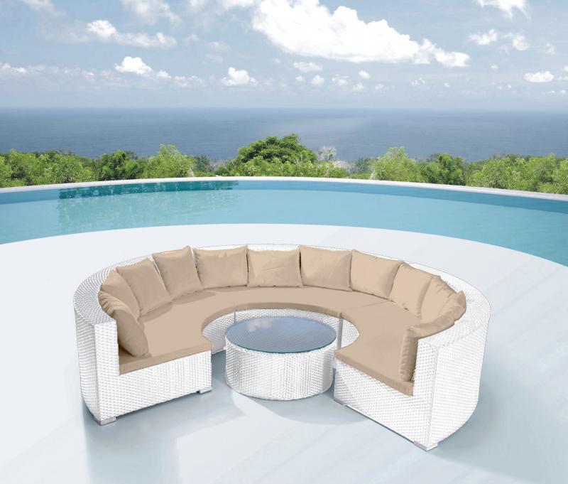 Arredamento per esterni wendy 250x80 circolare sof grande for Arredamento per esterni