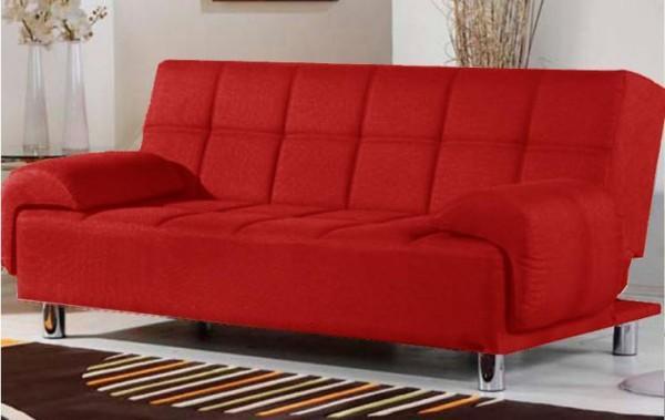 Divano letto angelica 200x99 bianco rosso con braccioli - Altezza quadri sopra divano ...