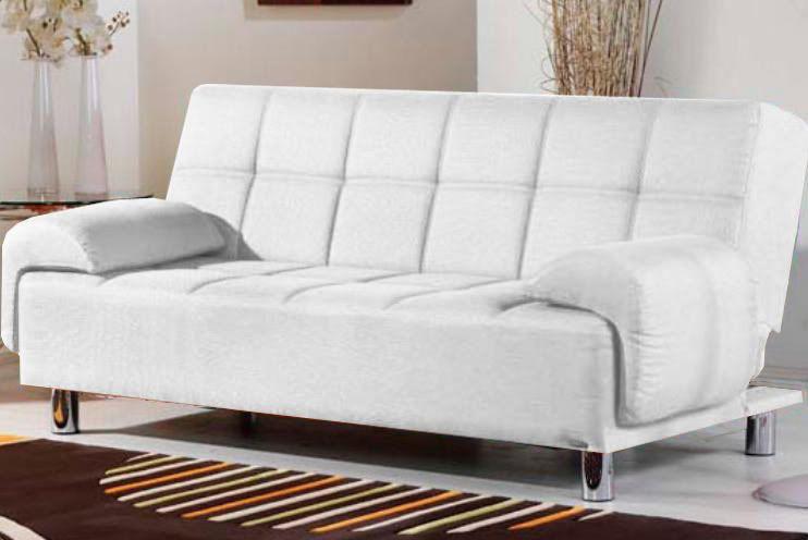 Divano letto angelica 200x99 bianco rosso con braccioli for Letto con testata reclinabile