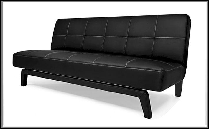 Divano letto moderno erica180x80 bianco nero ecopelle
