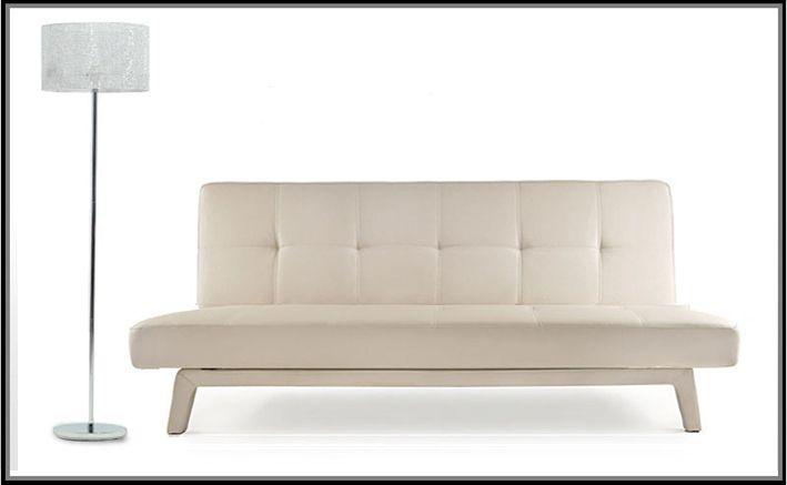 Divano letto moderno erica180x80 bianco nero ecopelle - Divano letto ebay ...