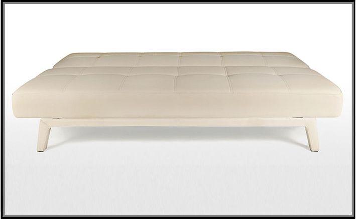 Divano letto moderno erica180x80 bianco nero ecopelle for Divano 90 euro