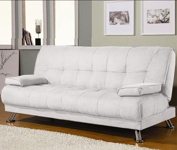 Divano letto francesca 187x88 3 posti cuscini bianco nero for Divano 90 euro