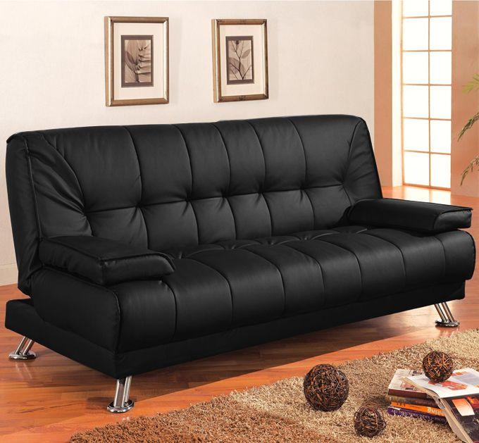 Divano letto francesca 187x88 3 posti cuscini bianco nero for Design economico