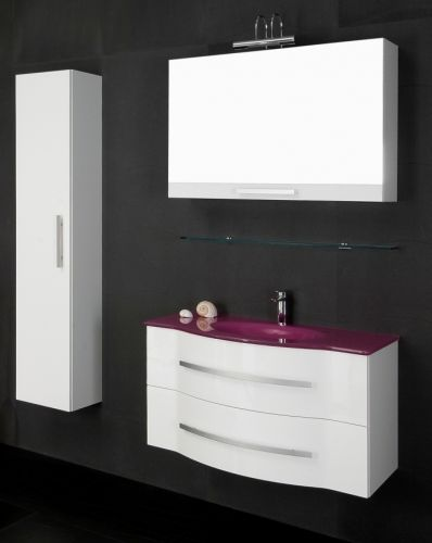 Arredo bagno moderno argus mobile doppio lavabo bb - Mobili bagno doppio lavabo moderni ...