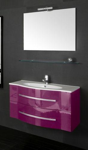 arredo bagno argus, con lavabo e specchiera bb - Arredo Bagno Lilla