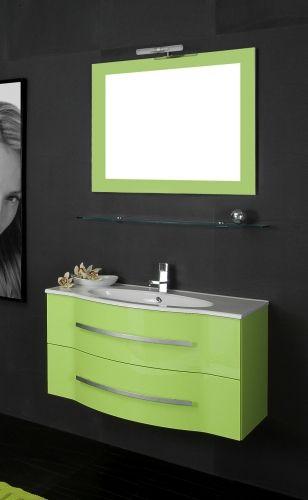 arredo bagno argus, con lavabo e specchiera bb - Arredo Bagno Verde Acqua