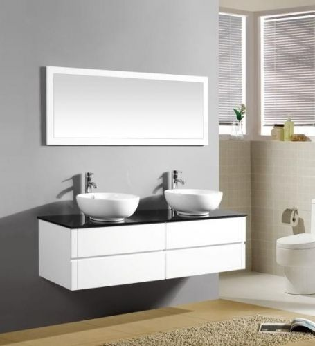 Arredo bagno topazio2 mobile moderno con doppio lavabo pd for Offerta mobili bagno sospesi