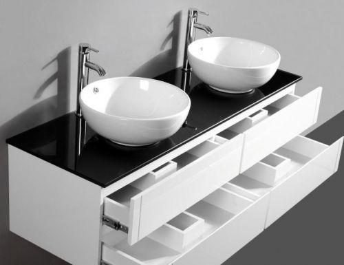 Arredo bagno topazio2 mobile moderno con doppio lavabo pd - Mobile bagno con doppio lavabo ...