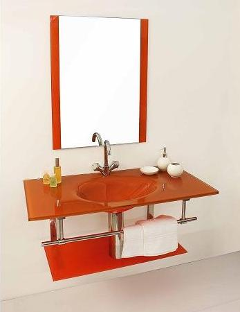 Mobile bagno best con lavabo in cristallo colorato bz - Accessori bagno colorati ...