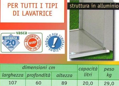Base coprilavatrice con lavatoio in resina per esterno o - Mobile coprilavatrice con lavatoio ...