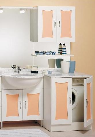 Mobile bagno ambra coprilavatrice 70 68 lavabo sottopiano bh - Mobile lavabo lavatrice ...