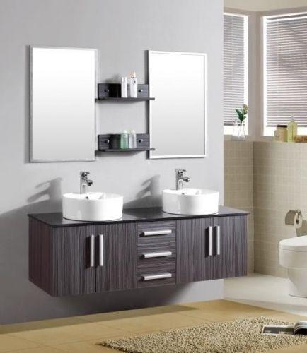 Arredo bagno moderno smeraldo2 con doppio lavabo pd - Bagno doppio lavandino ...