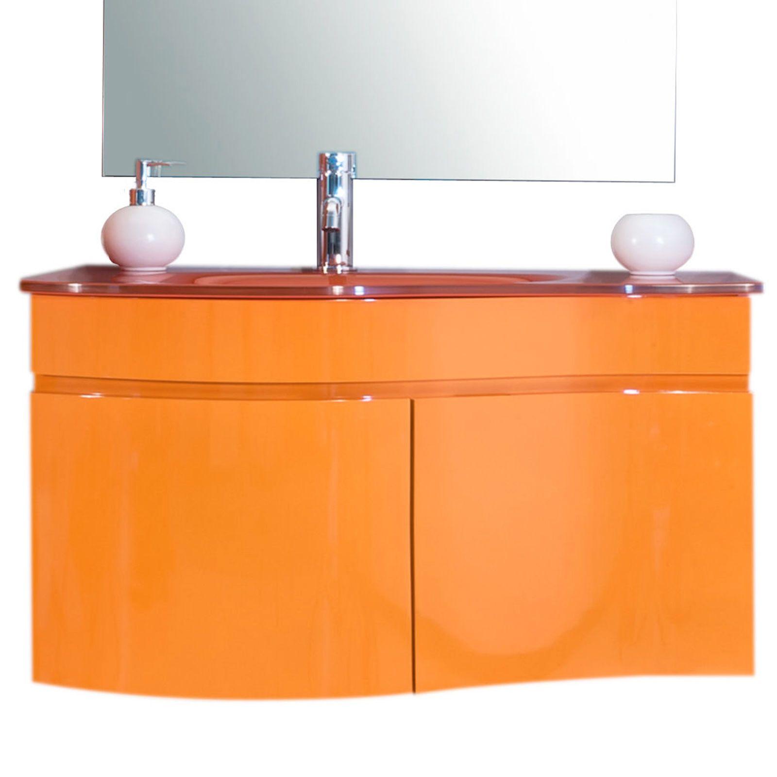 Arredo bagno asia completo di lavabo in cristallo bz - Arredo bagno lavabo ...