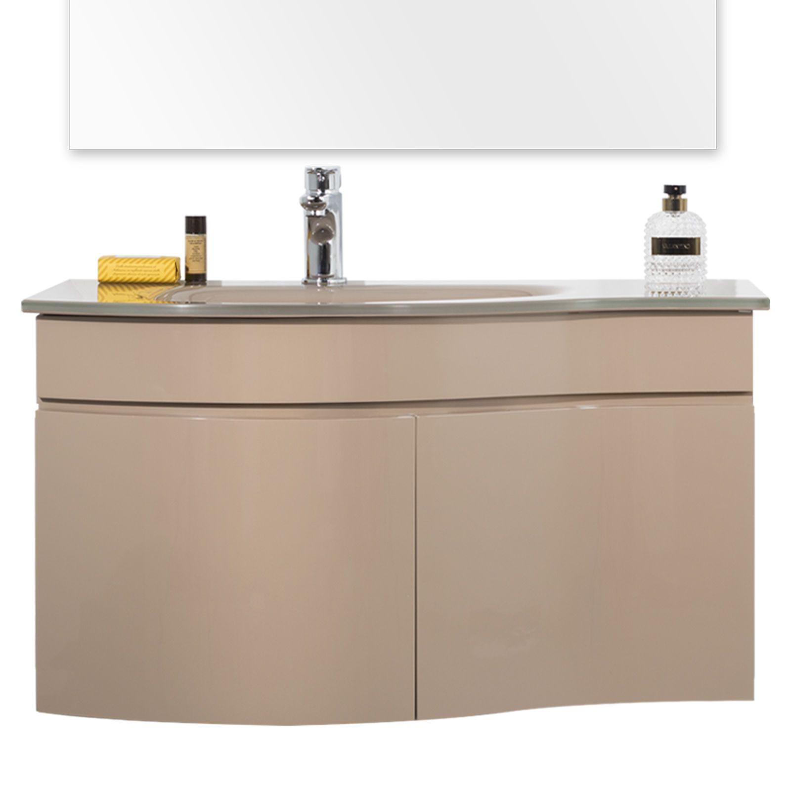 Armadio laccato bianco per soggiorno - Mobile lavabo cucina ...