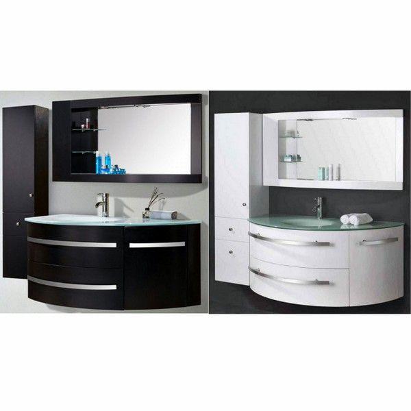 Mobile bagno desy 120 30 cm nero o bianco lavabo in for Mobile bagno 120 cm