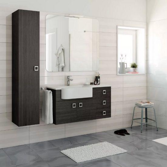 Arredo bagno moderno sospeso florida vari colori bh - Bagno bianco e grigio ...