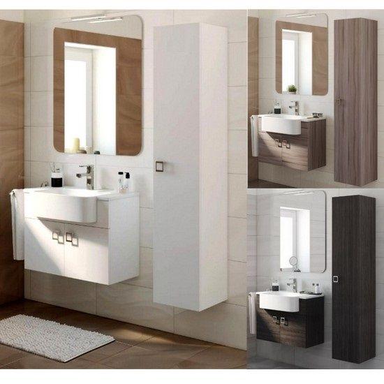 Arredo bagno florida mobile bagno moderno completo bh - Bagno grigio e bianco ...