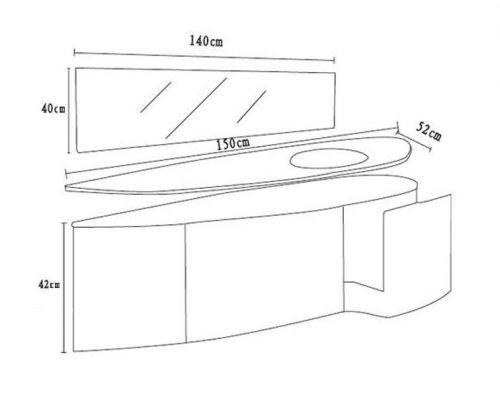 Mobile bagno beta con lavabo in cristallo colorato bz - Misure mobili bagno ...