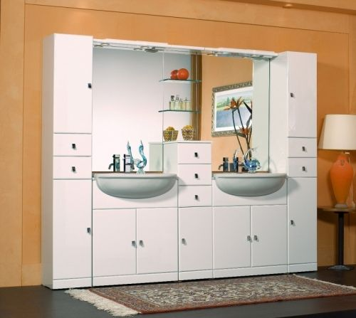 mobile bagno cleo cm 75 bianco lucido