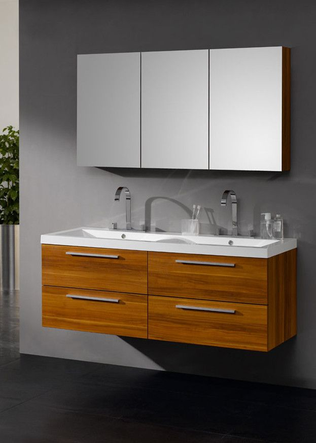 Arredo bagno black, mobile moderno, doppio lavabo br