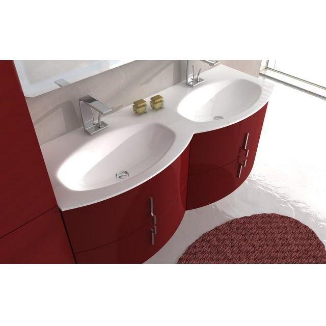 mobile bagno sting 134 cm in 4 colori con doppio lavabo bh