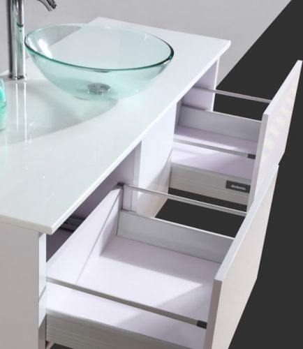 Arredobagno sofia 140 bianco con lavabo da appoggio pd for Lavabo sofia