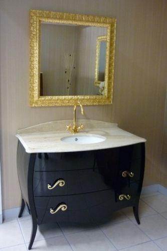 Mobile da bagno in arte povera modello raffello bh - Mobile bagno nero lucido ...