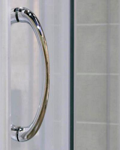 Porta per doccia a nicchia 2 ante scorrevoli cristallo - Porta doccia vetro ...
