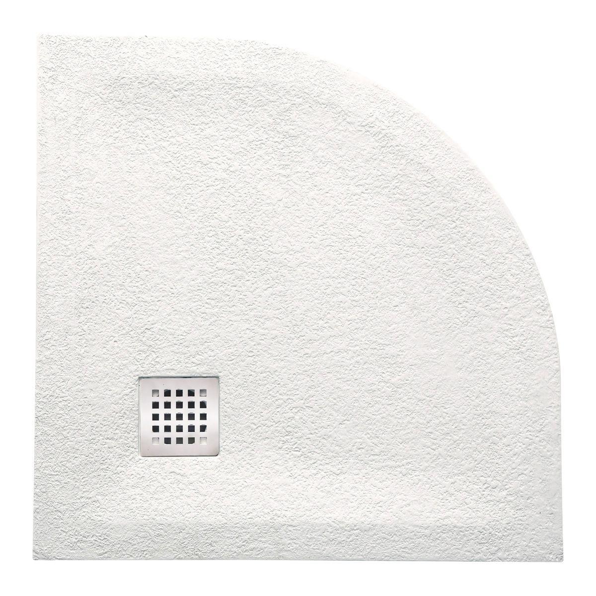 Piatto doccia semicircolare marmoresina 3 cm con piletta sifonata in 6 colori 80x80 o 90x90