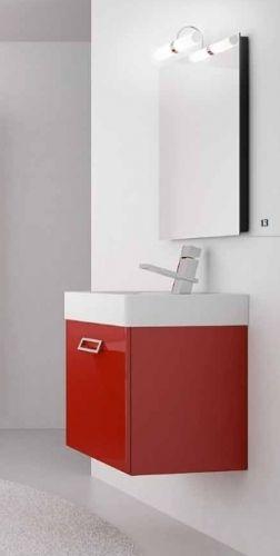 Mobile bagno moderno quad disponibile in 20 colori bb for Mobile bagno moderno bianco