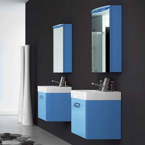 Mobile bagno moderno quad disponibile in 20 colori bb - Sottolavabo per bagno ...