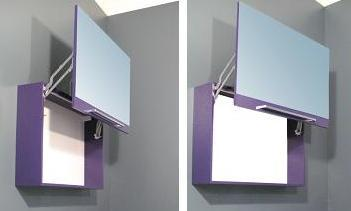 1 specchio contenitore da bagno square 90x60hx20p in 20 colori